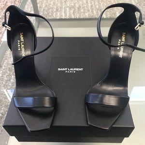Saint Laurent Amber Ankle Strap Heels